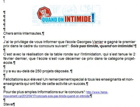 http://www.heros-mouvement.ca/2012/04/17/concours-sois-pas-timide-quand-on-intimide/